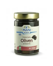 Kalamata Oliven in Lake - entkernt - Mani - NL Fair - bio (150g)