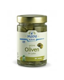 Grüne Oliven in Lake - Mani - NL Fair - bio  (180g)
