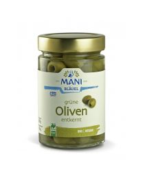 Grüne Oliven in Lake - entkernt - Mani - NL Fair - bio (150g)