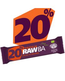 RAW BA PROTEIN - Kakao & Orange -  bio & roh (40g)